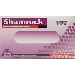 Shamrock Medical-use Latex Disposable Gloves Size M 100pcs [made from natural latex]