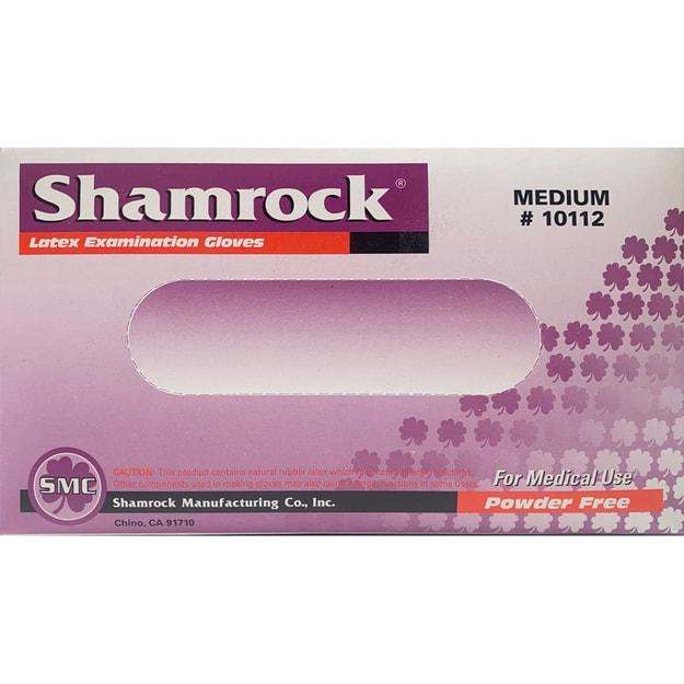 商品详情 - 【医用手套】美国Shamrock 一次性医用天然乳胶手套 防疫防菌 中码 100枚入 不含粉末 - image  0