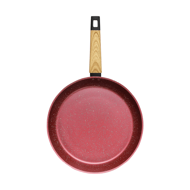 "Product Detail - CONCORD Art of Cooking 12"" Granite Nonstick Coated Cast Aluminum Frying Pan Induction Compatible #Canyon Red - image 0"