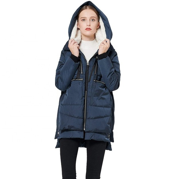 Product Detail - China direct mail JANE NA 2019 winter white duck down ladies down jacket Silver L code #1 - image 0
