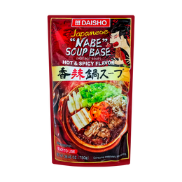 日本DAISHO 日式火锅汤底 香辣火锅 3-4人份 750g