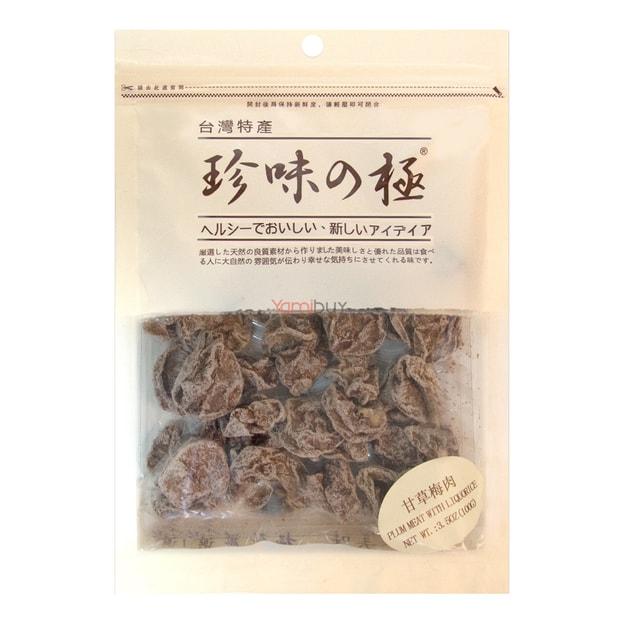 商品详情 - 台湾珍味の极 甘草梅肉 100g - image  0