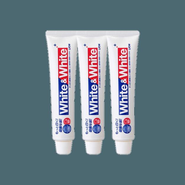 商品详情 - 【超值组合】日本LION狮王 特效美白牙膏 薄荷味 150g *3 - image  0