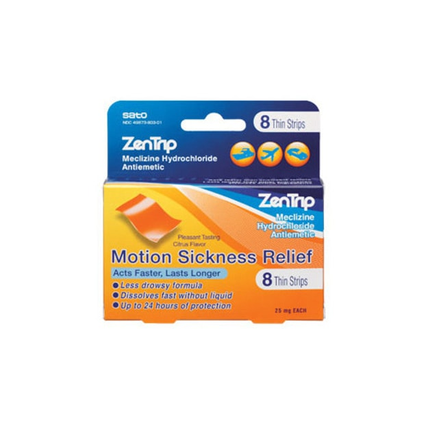 Product Detail - SATO Motion Sickness Remedy Zentrip 8 Strips - image 0