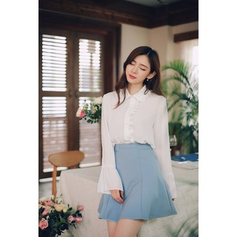 PRINSTORY 2018 Pre-fall Cute Sleeve Blouse White/M