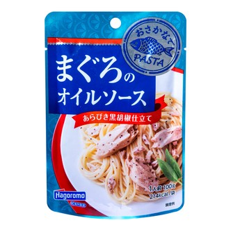 日本HAGOROMO 黑椒金枪鱼意面酱 100g
