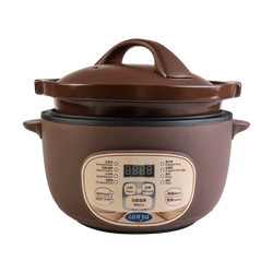 SONYA Multi Function Purple Clay Pot Slow Cooker Electric Stew Cooker 3L STC-30