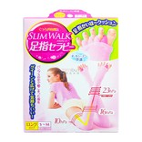 日本SLIM WALK 长款美腿五指袜 粉色 S-M 1件入