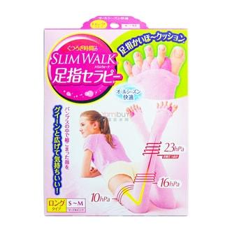 SLIM WALK Compression Socks Thigh Length Pink sizeS-M 1 Piece