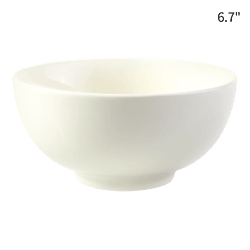 HEY BUNNY Easy Cleaning Household Soup Bowl 1pc White 6.7