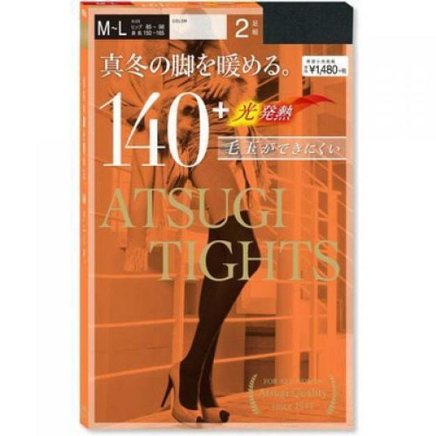 Product Detail - ATSUGI Tights 140 Denier Black #M-L Size 2pairs - image 0
