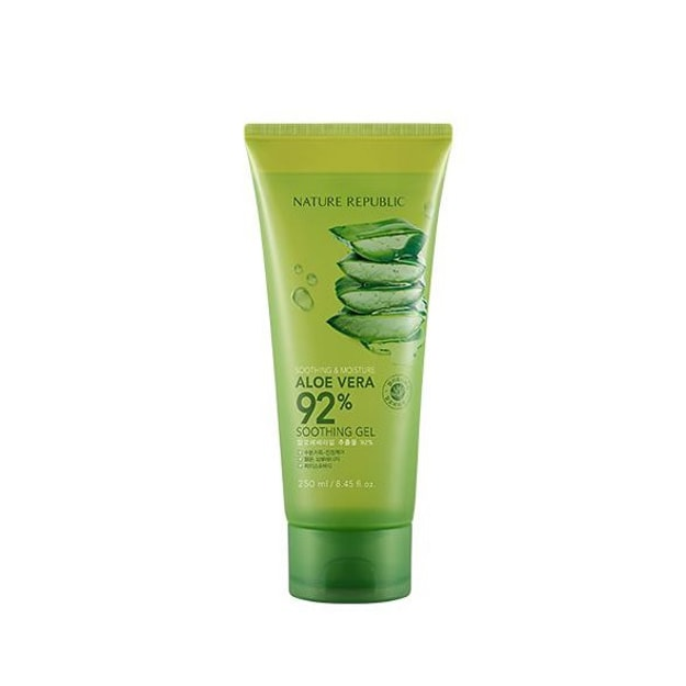 Product Detail - NATURE REPUBLIC SOOTHING & MOISTURE ALOE VERA 92% SOOTHING GEL 250ml (Tube Type) - image 0