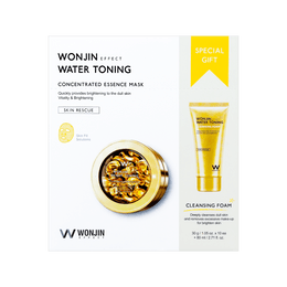 WONJIN EFFECT Water Toning Concentrated Essence Mask 10pcs + 80ml