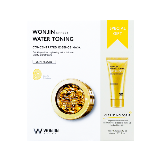 Product Detail - WONJIN EFFECT Water Toning Concentrated Essence Mask 10pcs + 80ml - image 0