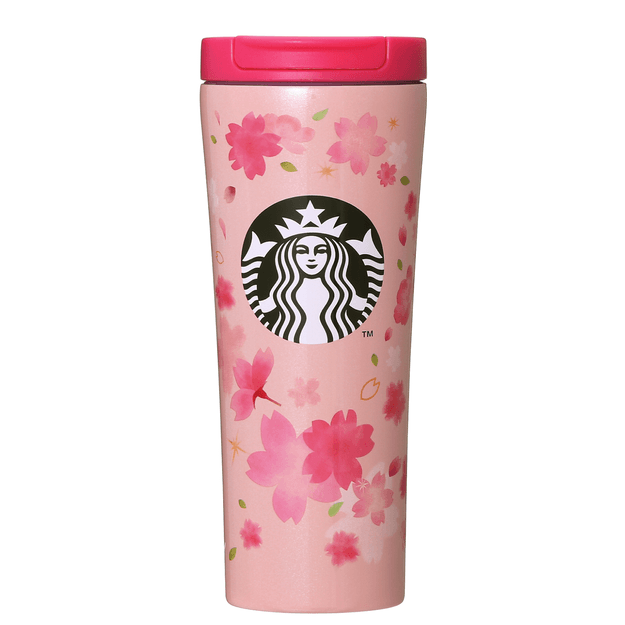 STARBUCKS Stainless Steel Pink traveling cup 355ml