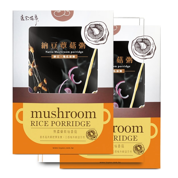 Product Detail - [Taiwan Direct Mail] LUYAO Mushroom  Porridge 34g x 3 sachets/Box 2 Cases Combo*Vegan/Specialty* - image 0