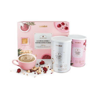 WUGUMOFANG Gift Set Red Bean Coix and Cereal Meal + Collagen Oatmeal 1000g