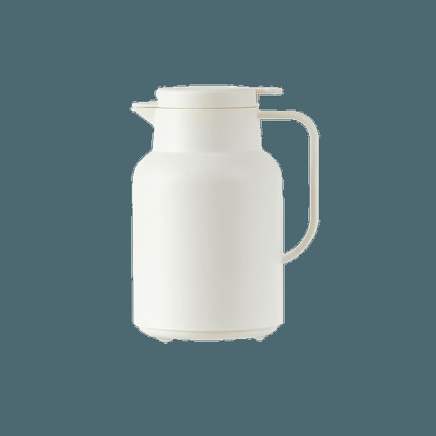 商品详情 - 网易严选 1.5L 简约大容量玻璃内胆保温壶 栀子白 - image  0
