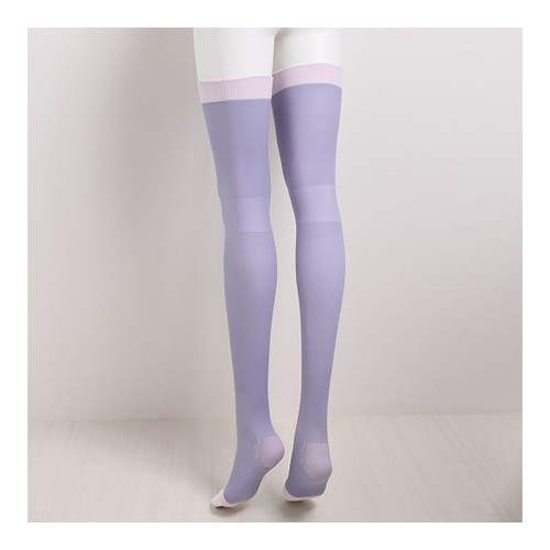 DR. SCHOLL QTTO Overnight Slim Over Knee Leggings #purple M