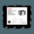 名创优品Miniso 漫威系列 Logo款 24L 百纳箱,黑色 39cm*29cm*20cm