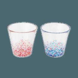 ISHIZUKA GLASS 石塚硝子||津轻 舞樱青空玻璃杯2只套装 FS-62505||1套