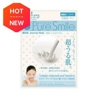 日本PURE SMILE 牛奶精华系列牛奶超润肌补水面膜 单片入