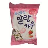 [台湾直邮] 韩国 乐天 - 棉花牛奶糖(草莓口味) 63克/包