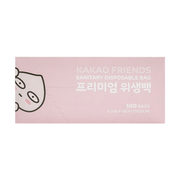 Korea KAKAO Friends Disposable Bag Size S Small 100bags 17x25cm