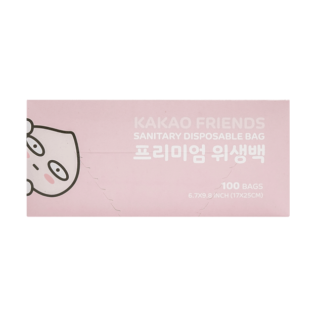 Product Detail - Korea KAKAO Friends Disposable Bag Size S Small 100bags 17x25cm - image 0
