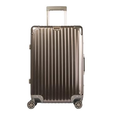 苏宁极物 全铝镁合金金属万向轮拉杆箱 24寸 钛金色