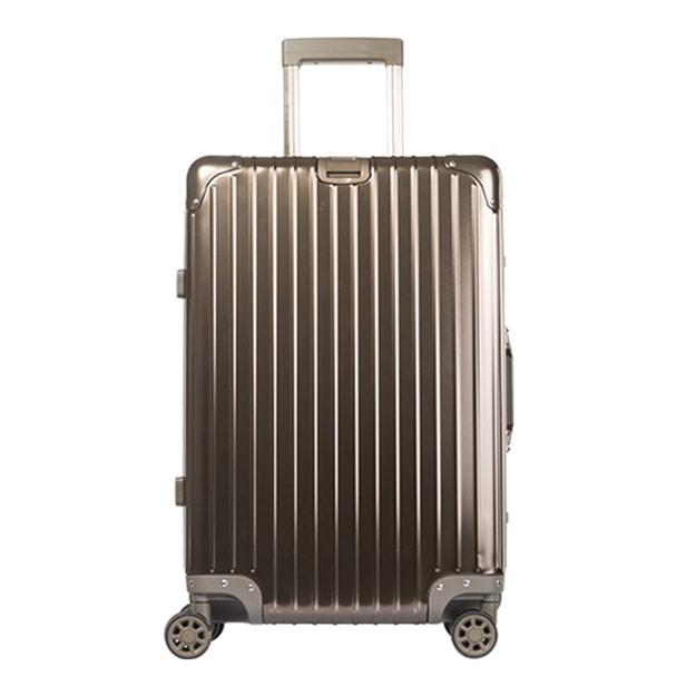 商品详情 - 苏宁极物 全铝镁合金金属万向轮拉杆箱 24寸 钛金色 - image  0