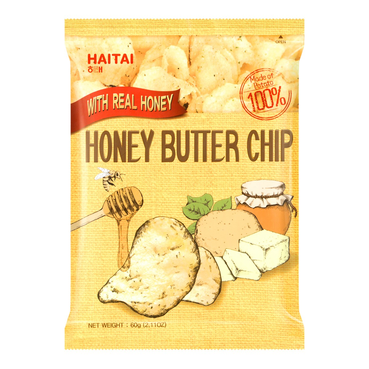 Yamibuy.com:Customer reviews:HAITAI Honey Butter Chip 60g