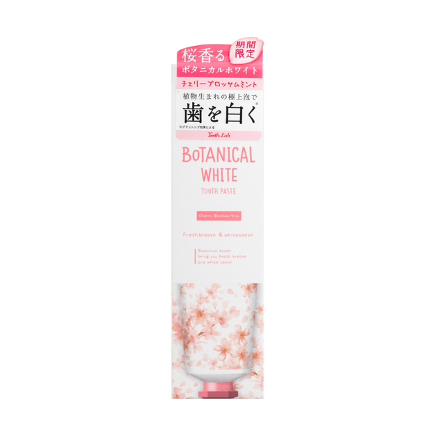 Teeth Lab Botanical White Tooth Paste 100g Cherry Blossom Limited Edition