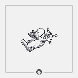@BECOME Original Tattoo Stickers Cupid Three Piece