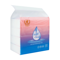 Fnian ZIRO Moisture Soft Tissue 138*190mm*4-ply*75 sheets *4 packs With Moisturizing Cream Ingredients