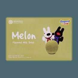 韩国YONSEI延世牌 蜜瓜牛奶 6盒入 6*200ml 包装随机发