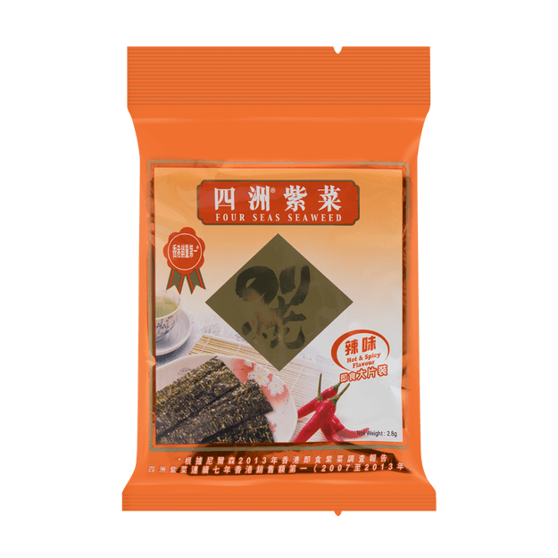 Product Detail - Four Seas Seaweed Hot & Spicy Flavor 2.8g - image 0