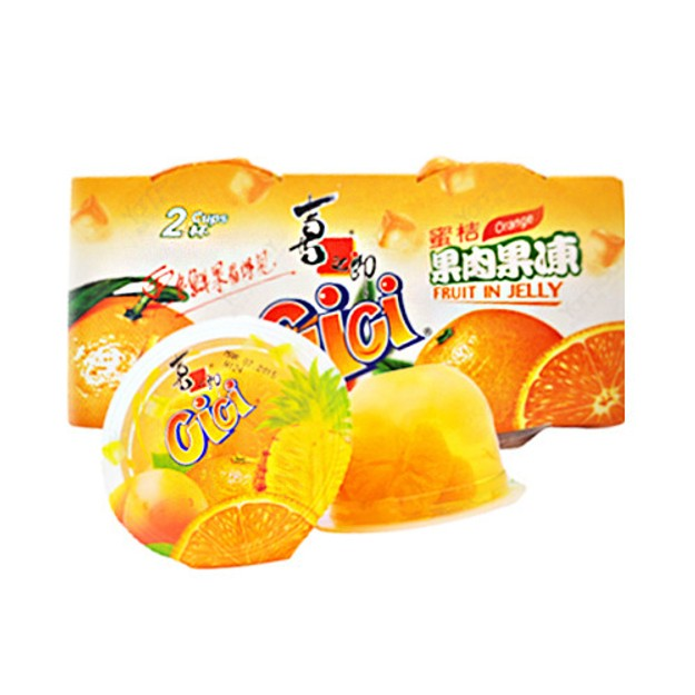 商品详情 - 喜之郎 CICI 蜜桔果肉果冻 2杯装 - image  0