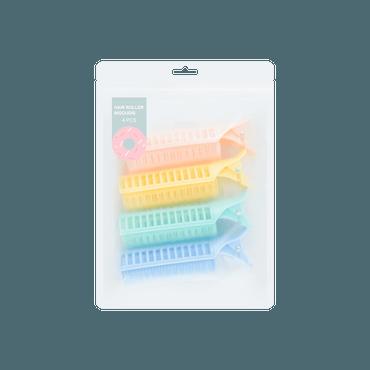 名创优品Miniso 糖果时光 专业鸭嘴卷翘发夹 4个装