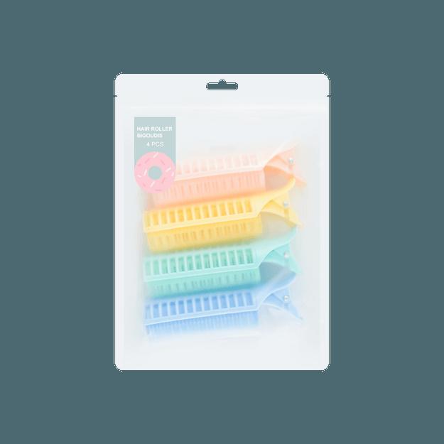 商品详情 - 名创优品Miniso 糖果时光 专业鸭嘴卷翘发夹 4个装 - image  0