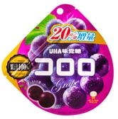 UHA Fruit Candy Grape Flavor Plus 20% 48g