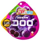 【日本直邮】UHA悠哈味觉糖 全天然果汁软糖 紫葡萄味 全新包装加量20%  48g