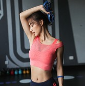 SYLPHLIKE LOLI Sports Double-layer Mesh Bra For Yoga Fitness Train /Red#/M