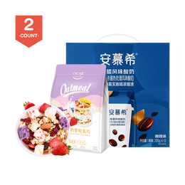 【Value Set A】AMBROSIAL Greek Yogurt Coffee Flavor 205g*12pc + OCAK Yogurt Fruit Nuts Oatmeal 400g*1pc