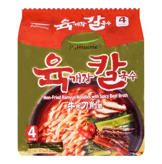 PULMUONE Non-fried Ramyun Noodles Spicy Beef 4packs