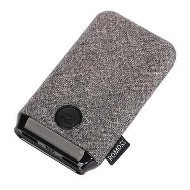 商品详情 - 【中国直邮】罗马仕10000毫安充电宝亚麻布艺便携式小巧大容量移动电源  PK10灰色 一件 - image  0