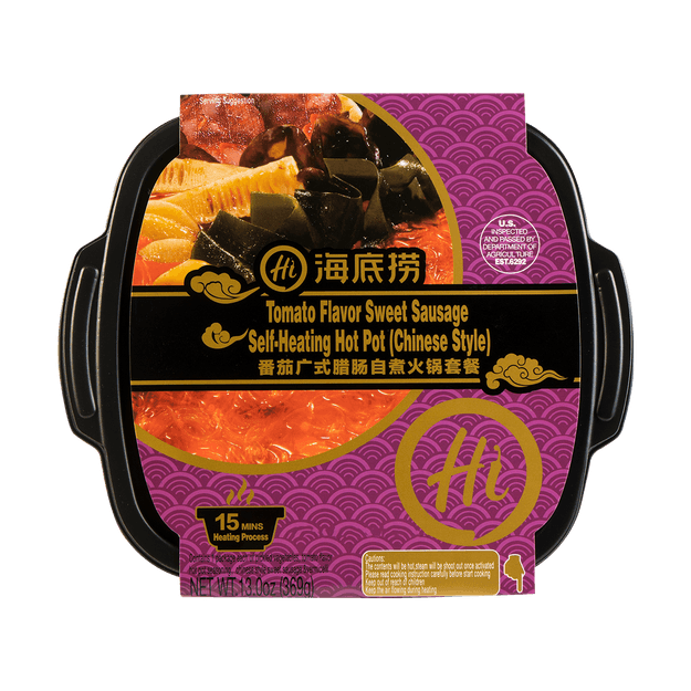 Product Detail - HDL Tomato Sweet Sausage Self-Heating Hot Pot 369g - image 0