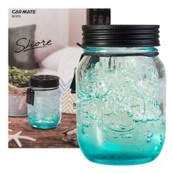 CARMATE Sai Shore Fragrance Air Freshener for Cars Glass Jar Sky Feel 130ml