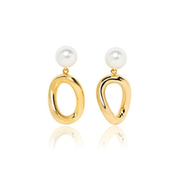ARSIS asymetric earring with pearl stud