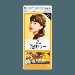 【热销网红色】日本KAO花王 LIESE PRETTIA 泡沫染发剂 #法国糖果米色 单组入